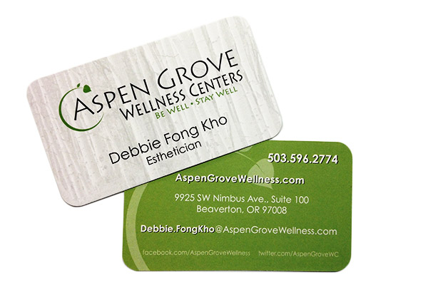 Business cards portland badge sign aspen grove reheart Images