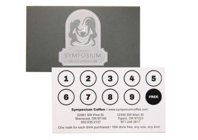 Symposium Frequent Customer Card