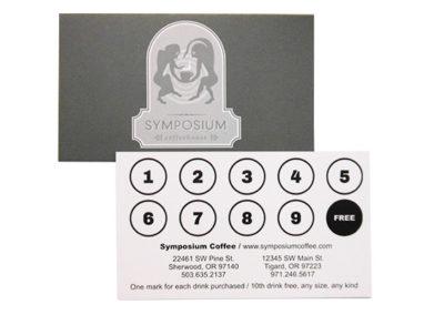 Symposium Frequent Customer Card
